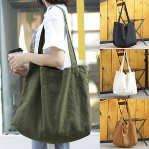 Fashion Large Pocket Casual Tote Women's Handbag Shoulder Handbags Canvas Capacity Bags Shopping Bag