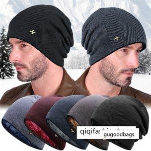 chaud épreuve à froid des hommes épaissie velours des femmes en laine tricoté pull-over vélo en plein air Hat