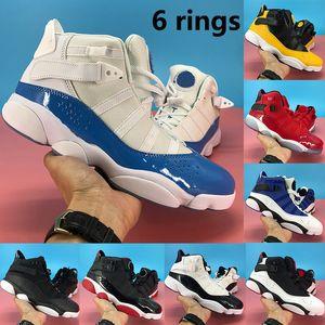 2020 Jumpman 6 колец Мужского баскетбольной обуви UNC черного лед матового серебро разводило конфетти команду маточного Concord спортивной тапки женщин тренеров