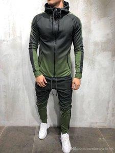 Mens Fashion Frühling Hiphop Tracksuits Designer Strickjacke Hoodies Hosen 2pcs Kleidung Sets Pantalones Outfits Designer Männlich Kleidung