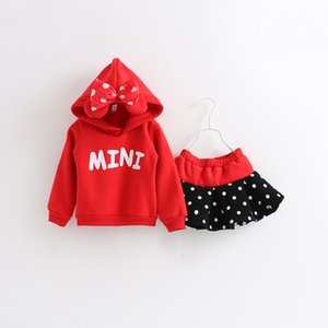 Baby Girls Clothes Mouse Set Cartoon Skirt 2PCS Clothing Set Children Kids Fashion Casual Sport Dress Clothes Tracksuit