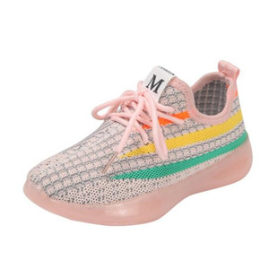 2020 Spring New Light Breathable Children Mesh Shoes Fashion Popular Boys Girls Children Shoes Comfortable Children Casual Sneaker Shoes