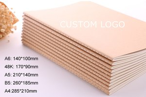 Custom logo Kraft paper notebook A4 A5 B5 Student Exercise book diary notes pocketbook school study supplies