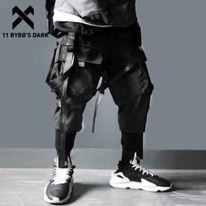 11 Dark BYBB Nastri multi tasche cargo Pantaloni Uomo Casual Harajuku pista pantaloni Hip Hop Streetwear Techwear pantaloni jogging Men CX200729
