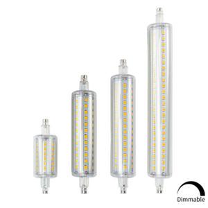 R7S светодиодные лампы J78 J118 Диммируемый лампы Corn лампы 78мм 118мм 135мм 189mm Заменить Halogen Light 25W 150W 500W 220V 110V Лампада