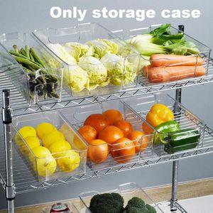 Овощной Фрукты Тумбы Очистить холодильник ящик для хранения с ручками для переноски Freezer чехол стекируемые для кухни дома Пластиковые