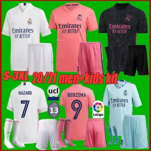 Kit adulte taille S-3XL 20 21 maillot du Real Madrid RISQUE SERGIO enfants de football RAMOS 20 21 Benzemá VINICIUS JR uniformes chemise de football