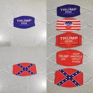 Trump 2020 Máscara 5 cores American National Flag Anti poeira à prova de vento Donald Trump Máscaras Designer LJJO8263