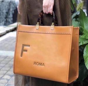 40cm nova moda marrom bolsas femininas f sacos de compras sac saco ff sol grande marron totes 2020