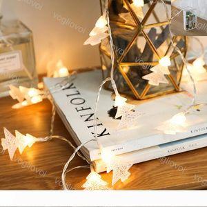 Christmas Lights Xmas Tree String Lamp 2M 3M Holiday Party Decorate Iron Flashing Warm White Use Battery 4.5V LED String EUB