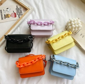 Children Acrylic chain bag girls organ messenger bag kids candy color one shoulder bag luxurychildren mini handbag A3491