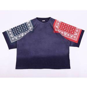 Streetwear Hip-Hop Oversize KAPITAL tişört Yaz Çiçek Baskı Vintage Tee Bırak Omuz Tasarım KAPİTAL T gömlek Tops