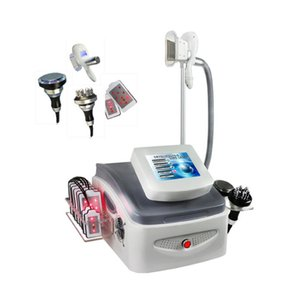 Free shipping 4D Cryotherapy Fat Freeze Equipment   Cryolipolysis Slimming Machine With Cooling RF Cavitation Lipo Laser