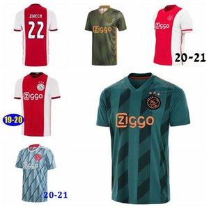 20 21 Ajax Home Soccer Jersey 2020 Away TADIC DE JONG ZIYECH DE LIGT Soccer Shirt DOLBERG VAN DE BEEK Champions football uniform