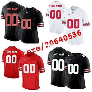 Jersey poco costosa personalizzato Ohio State Buckeyes universitario maschile Donne gioventù bambini personalizzate Qualsiasi numero di qualsiasi nome maglie cucito ROSSO bianco Calcio