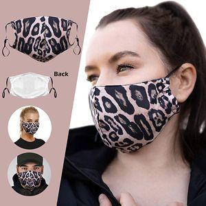 Мода Leopard Print Mask Howing Type Waul With Unisex пылезащитный моющийся регулируемый упругой хлопчатобумажной маски для лица Бесплатная доставка
