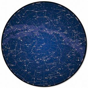 Gece Sky Yıldız Tekerlek Ana Salon Yuvarlak Kilim İçin Çocuk Odaları Kaymaz Mohawk Halılar Mohawk Carpe xLM3 # İçin Desen Kilimler Ve Halılar