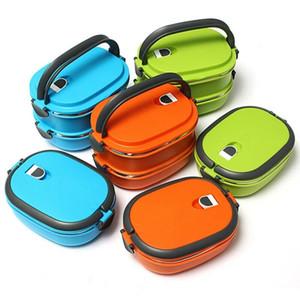 Vakum Mühür İstifleme İzoleli Lunch Box Paslanmaz Çelik Isı Yalıtımı Bento Box Çift Saplı Konteyner