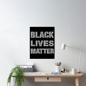 Astratta moderna della tela pittura non riesco a respirare George Floyd nero Abita Matter Poster stampe giclée arte della parete per la casa della decorazione dell'ufficio
