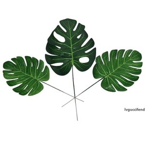 Artificial Leaves Tropical Palm Leaves Simulation Leaf for Hawaiian Theme Party wedding christmas Decorations 4 sizes