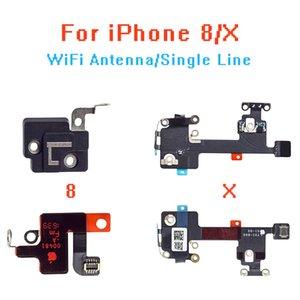 10PCS / LOT für iPhone8 8P X WIFI Signal Antenne Empfang Flexkabel und GPS-Abdeckung Set Ersatz Reparatur Teil