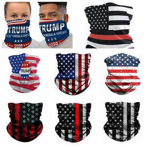 Amerikan Bayrağı 3D Baskı Dijital Sihirli Bisiklet Eşarp Fonksiyonlu Sihirli Şapkalar Turban Moda Binme Yaka Parti Maskeler RRA3376 Maske