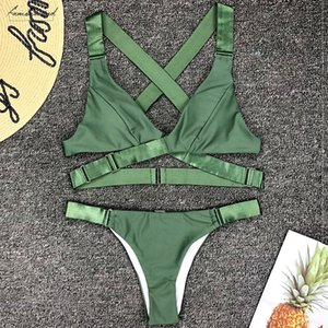Sexy Velvet Bikini Bikinis 2020 Brazilian Swimsuit Women Micro Thong Swimwear Female Golden Belt Bikini Set Bather Push Up Bathing Suit