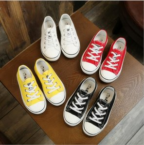 Best selling children's casual board shoes girls spring and Summer Boys' breathable canvas shoes one foot small white shoes direct sale size