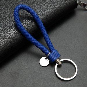 2020colors сумочка Keychains Плетеный кожаный Rope Handmade сплетенный Ключевые цепи Кожа Key Chain Кольцо держатель для автомобиля Keyrings