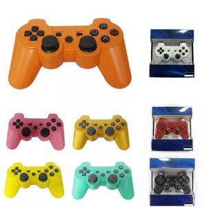 Dropship Dualshock 3 Wireless Bluetooth Controller for PS3 Vibration Joystick Gamepad Game Controllers With Retail Box
