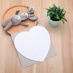 Puzzle Baskı Kalp Kağıtlar Sublime Blank Sarf Malzeme Kağıt Sıcak Transferi Hediye İçin Erkekler Kızlar Bebek 2 3xm C2 Smooth