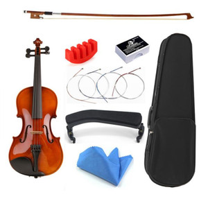 1 8 1 16 size with Case Bow Strings Shoulder Rest Bass Wood Violin For Beginner Students