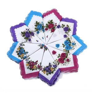 Cotton Lady Crescent side printed small handkerchief small floral white bottom hipster handkerchief