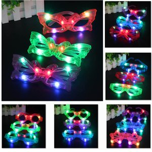 New LED Light Decor Glass Plastic Glow Light Up Toy Glass for Kids Party Celebration Neon SHow Christmas New Year Decorations HH9-2611