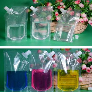 Us 170 Plastic Transparent Beverage Spout Packaging Bag Clear Drinking Liquid Juice Packing Spout Pouch For Beer Milk hotclipper MllMV