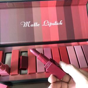 2020 New Beauty Brand Matte Lipstick 12pcs set Lip Make up 12 Colors Lipstick box High Quality Free Shipping