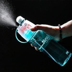 400 / 600ml pour l'été pas cher 3 Couleur en plastique solide Vaporiser Sport bouteille d'eau portable en plastique vélo vélo Shaker Mon bouteilles d'eau