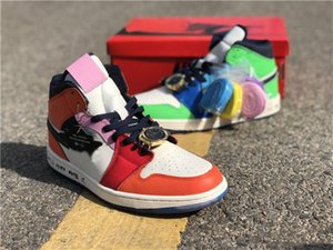 Release Melody Ehsani x Air Authentic 1 Mid WMNS Fearless Retro Habanero Red 1S Basketball Shoes Men Women Sneakers With Box CQ7629-100