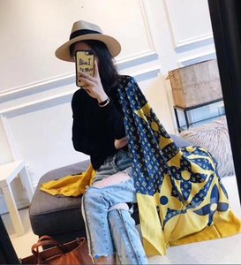 2020 Scarf For Woman Autumn And Winter Autumn And Winter Simulation Silk Exquisite Fashion Simple Striped Sunscreen Print Plaid Scarf Gift