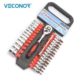 """1/4"""" socket chave de fenda chave de boca cremalheira bit conjunto reversível embalado métrica chave de fenda de precisão set ferramentas manuais portáteis"""