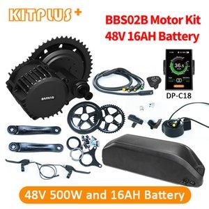Bafang Motor BBS02B 48V500W Mid Kit 8fun 500 W 48 V com 16AH bicicleta Bateria Ebike conversão elétrica