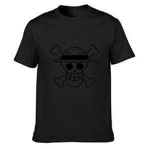 Casual verano Luffy flag camiseta de algodón de impresión La luz del sol Natural Standard sobre el tamaño S-5XL camisa