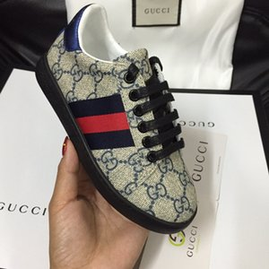 Ventes marques populaires de chaussures de mode pour enfants classiques concepteurs Genuine cuir garçon et fille chaussures de sport couleur mélange Trainin enfants