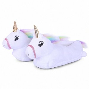 Infantili scarpe animali Cartoon Unicorn Slipper Bebé Adulto Cosplay Indossare scarpe da animali i bambini Indoor invernale Unicorn RgV8 #