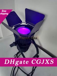 2 Stück 200w Cob Par Led Licht RGBWA Uv 6n1 Cob führte Punkt-200W IP65 Cob Par Can-Licht mit Stall-Tür