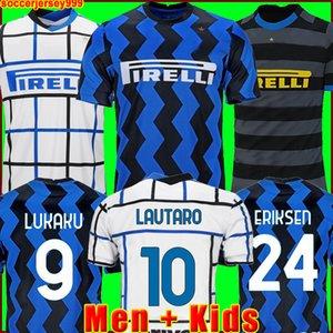 20 21 Inter camisa de futebol ERIKSEN LAUTARO PERISIC NAINGGOLAN milan camisas de futebol inter 2020 2021 CANDREVA maillot de foot kit homens + crianças