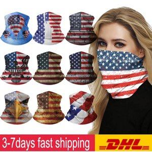 DHL Multifunction Magic Scarfs Bandanas i cant breathe Ice Silk Elastic Mask Black Lives Matter Defends the Right Outdoor Riding Mask FY6283