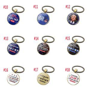 Trump Keychain Trump 2020 Election Supplies Acessórios Donald Trump Mantenha América Grande Tempo Gem Keychain Pendant DHF181