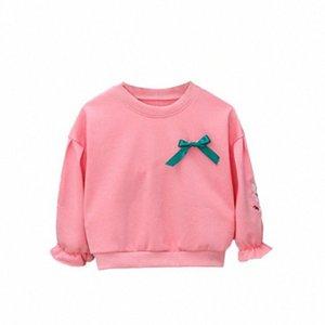 DFXD printemps bébé filles Sweat Casual enfants O-cou à manches longues broderie florale Pull Hauts Coton infantile Vêtements 6M-3T tifo #
