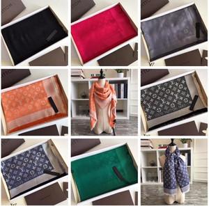 Luxury Designer Silk Cotton Square Scarf For Men High Quality Brand Women mens silk Denim Design Scarves Scarfs Pashminas Gift 140x140cm